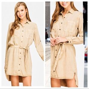 •Closeout•Tencel Shirt Dress